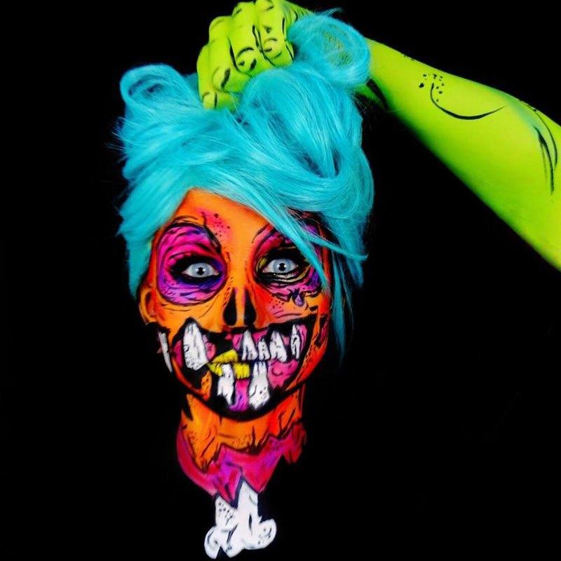бодиарт, рисунки на теле, фото, хэллоуин-4