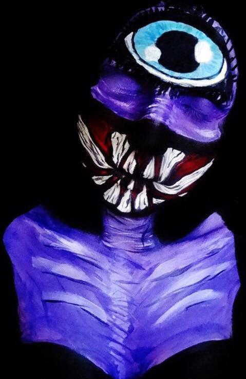 бодиарт, рисунки на теле, фото, хэллоуин-7