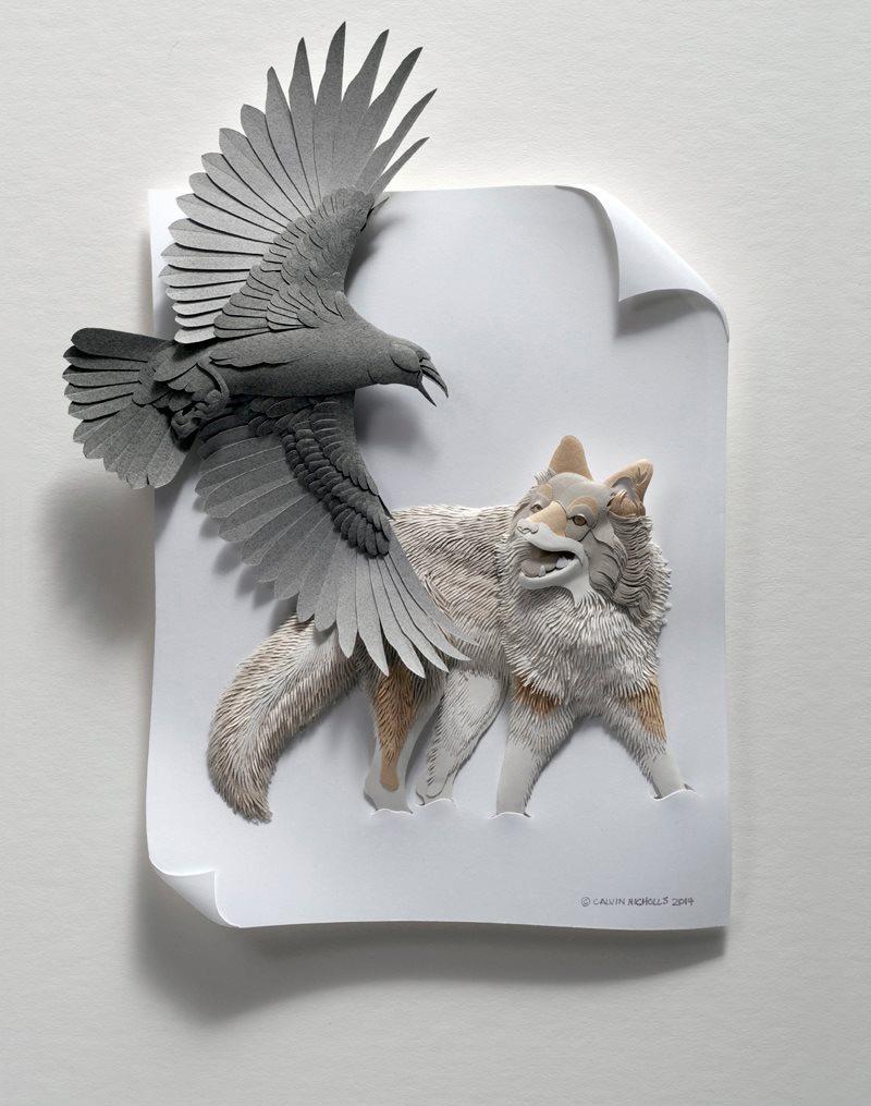 бумажные скульптуры птиц. Фото № 1
