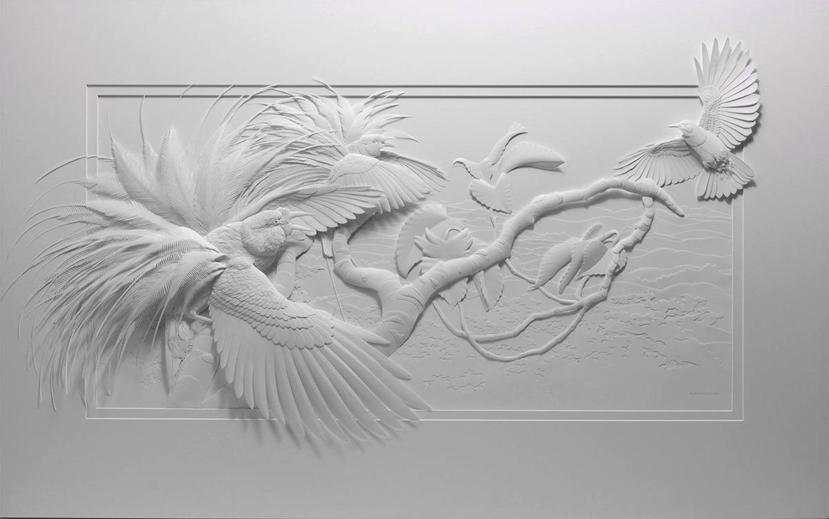 бумажные скульптуры птиц. Фото № 2