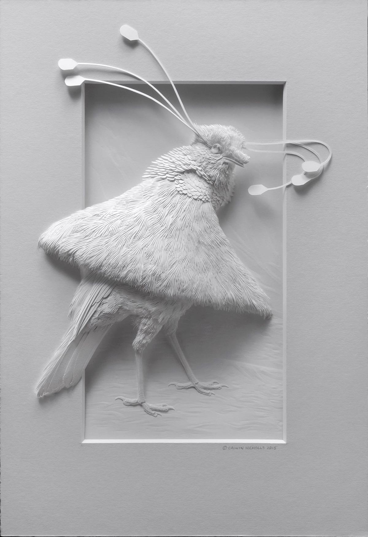 бумажные скульптуры птиц. Фото № 4
