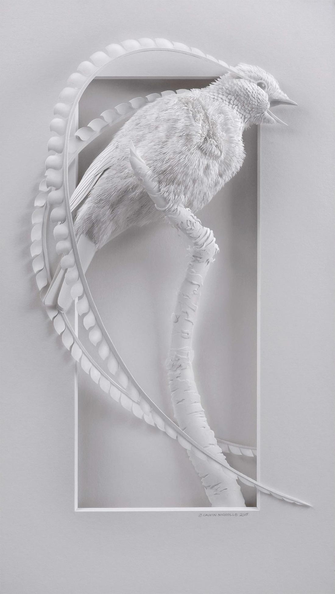 бумажные скульптуры птиц. Фото № 5