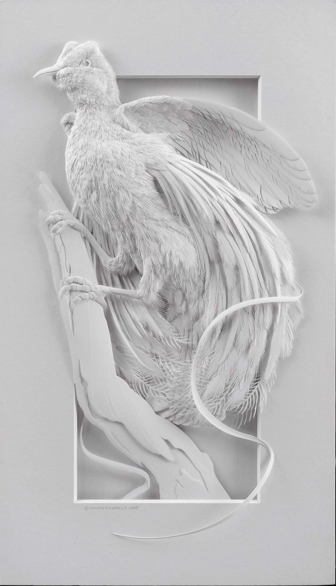 бумажные скульптуры птиц. Фото № 6