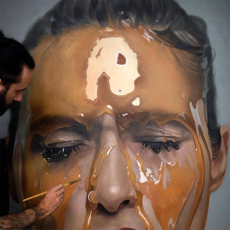 гиперреалистичность, портрет, модель, сироп, реализм, фото-2