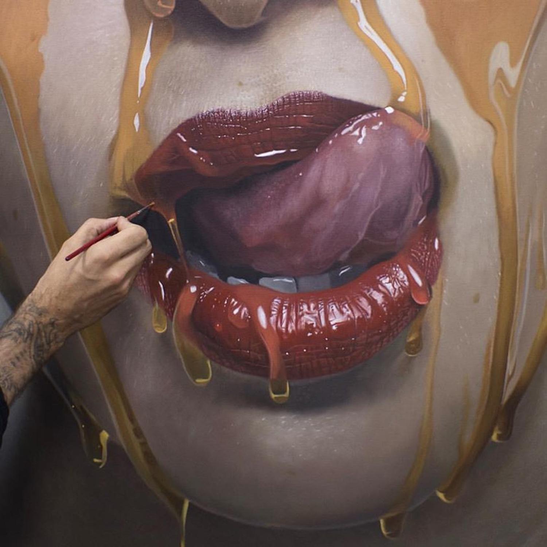 гиперреалистичность, портрет, модель, сироп, реализм, фото-5