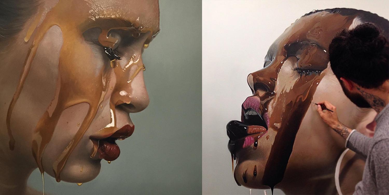 гиперреалистичность, портрет, модель, сироп, реализм, фото-6