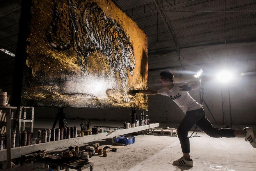 картина тигра, художник, полотно, творчество-3