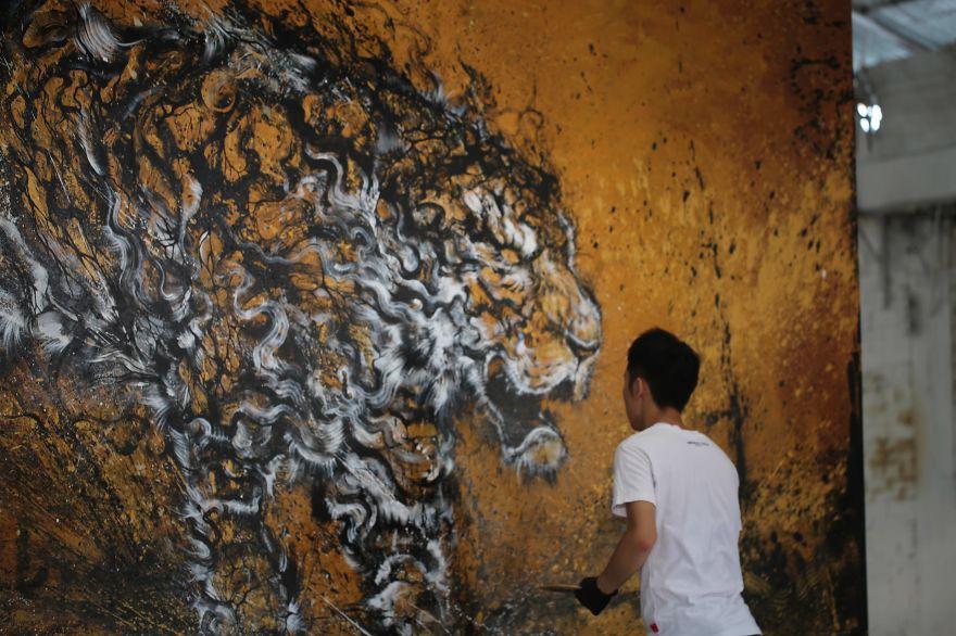 картина тигра, художник, полотно, творчество-5