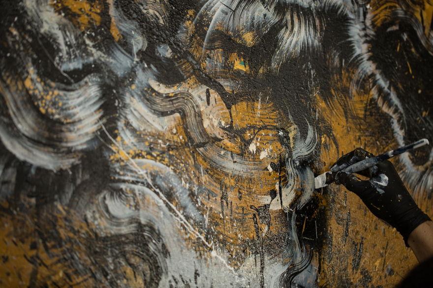 картина тигра, художник, полотно, творчество-7