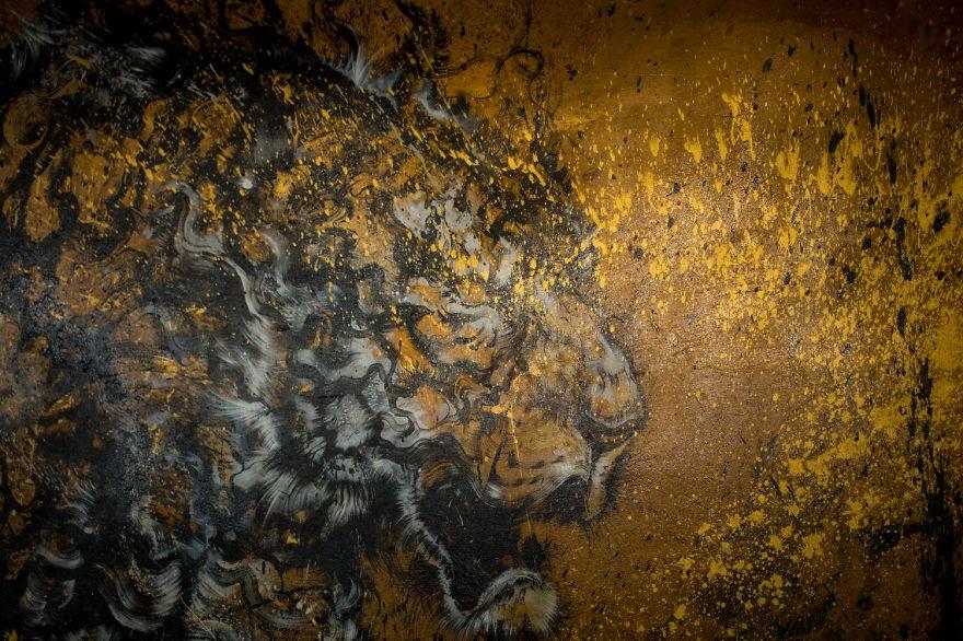 картина тигра, художник, полотно, творчество-8