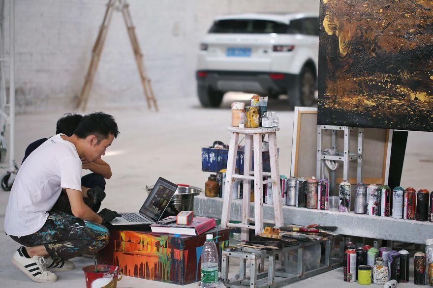 картина тигра, художник, полотно, творчество-9