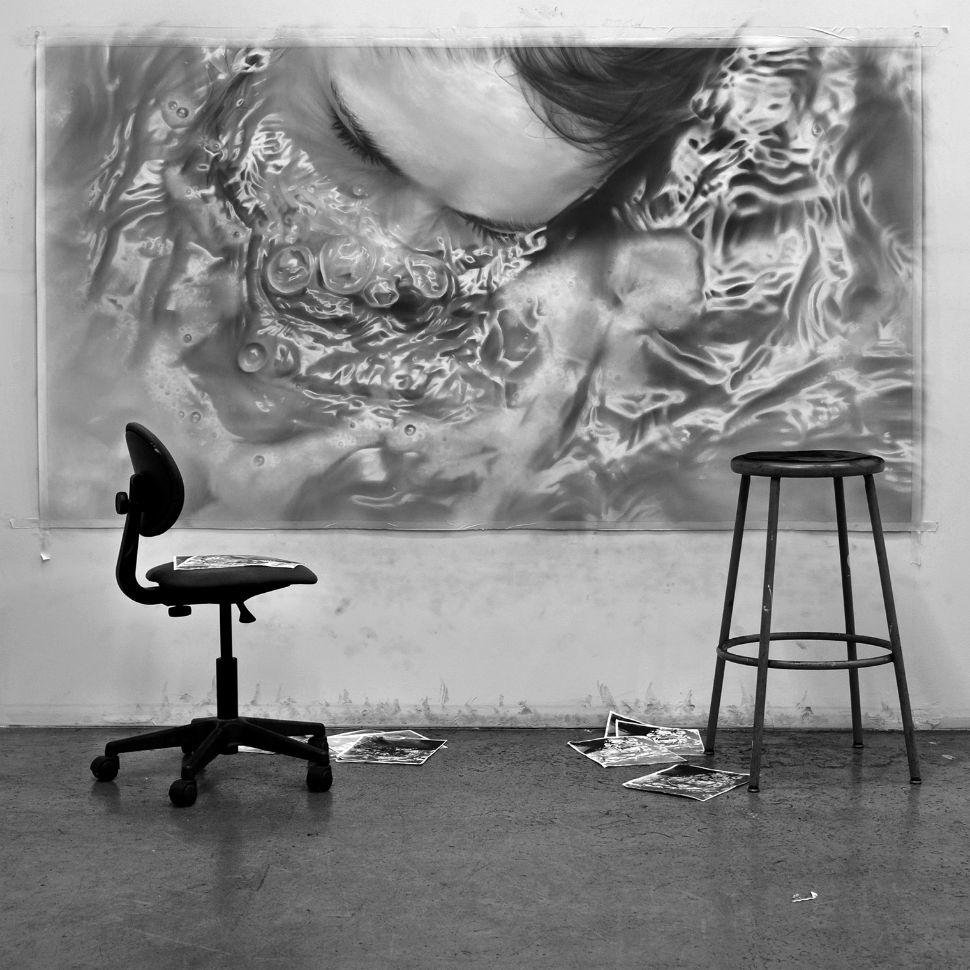 рисунки графитом на холсте, удивительная техника_2