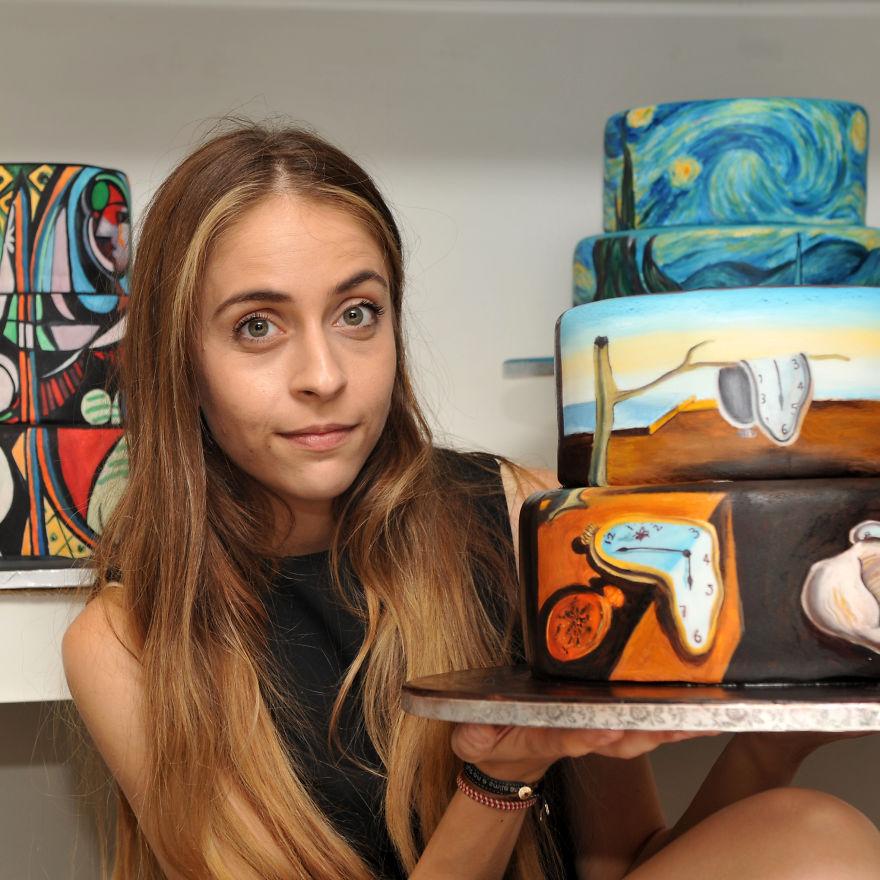 роспись тортов, рисунки на тортах-1