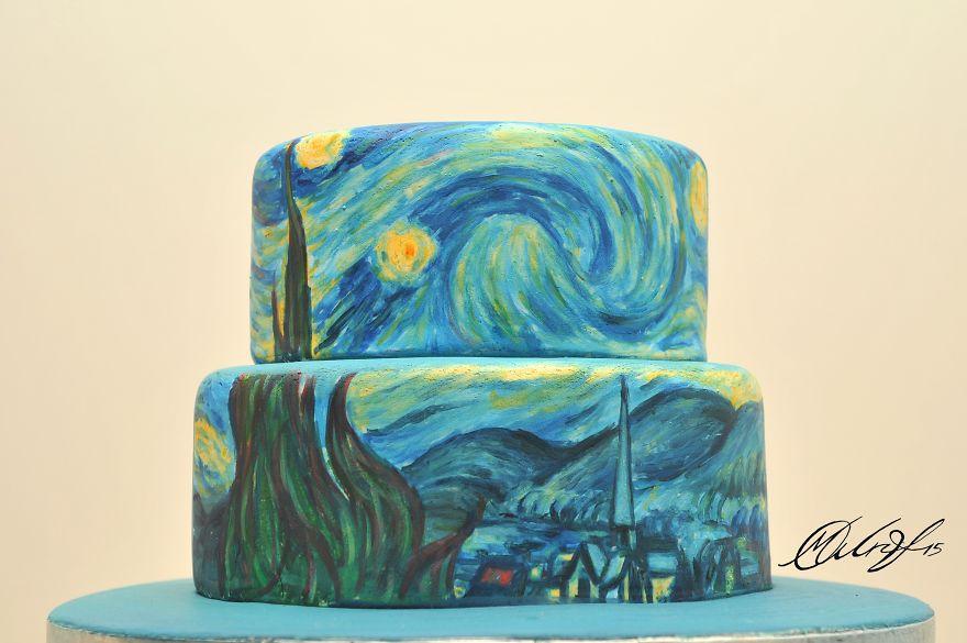 роспись тортов, рисунки на тортах-2