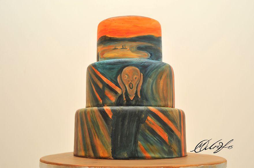 роспись тортов, рисунки на тортах-3