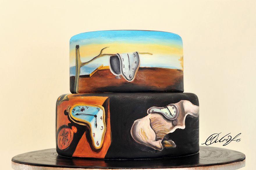 роспись тортов, рисунки на тортах-4