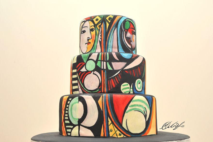 роспись тортов, рисунки на тортах-5