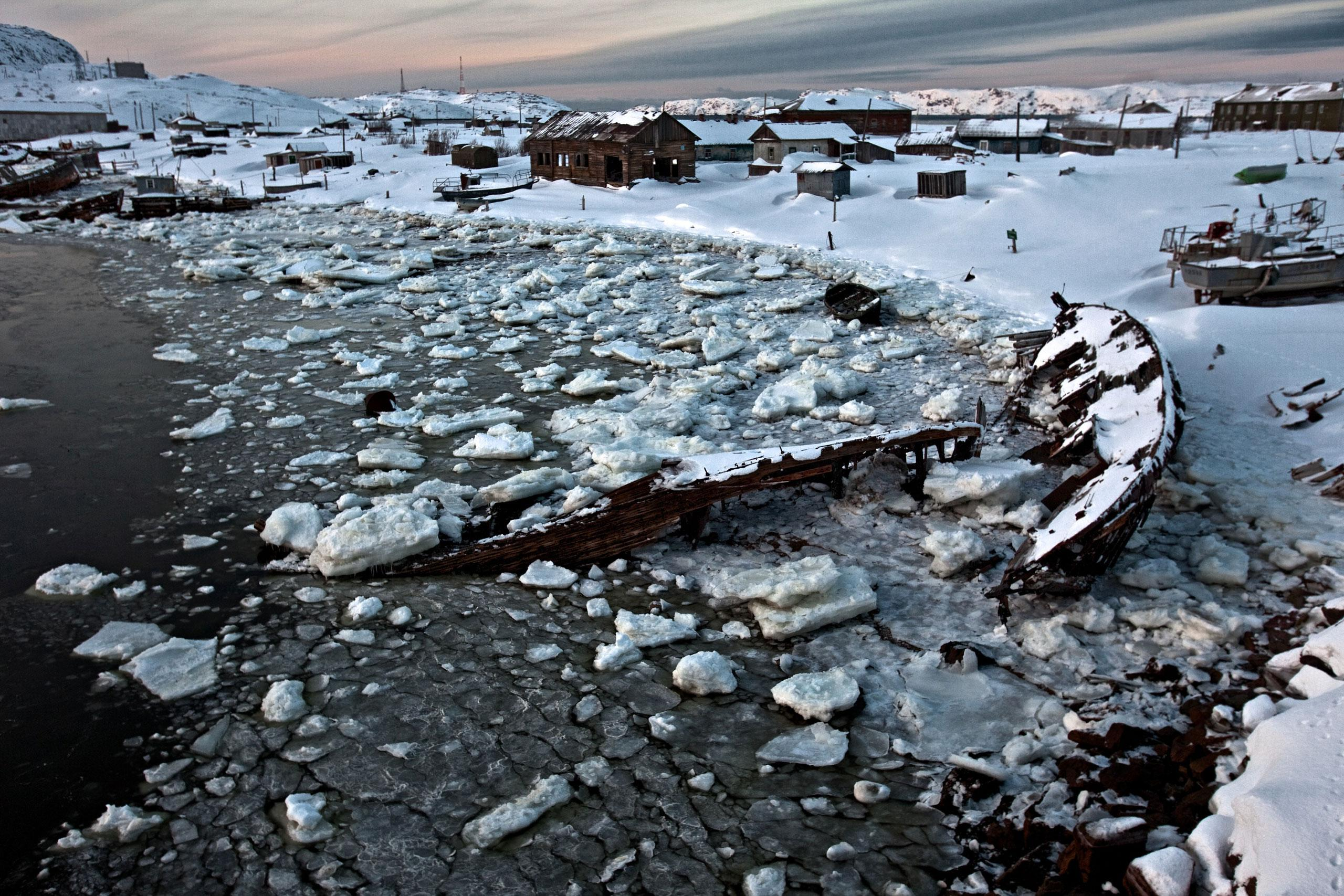 Арктика, крайний Север, нефть, полярный круг, Воркута-14