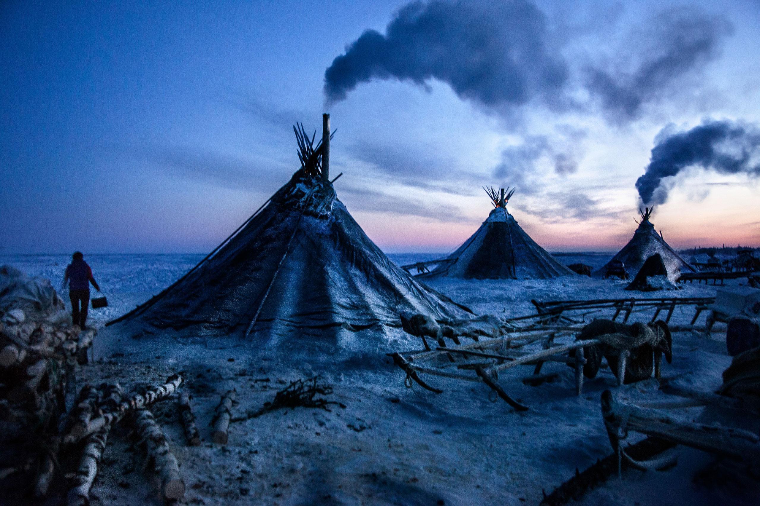 Арктика, крайний Север, нефть, полярный круг, Воркута-2