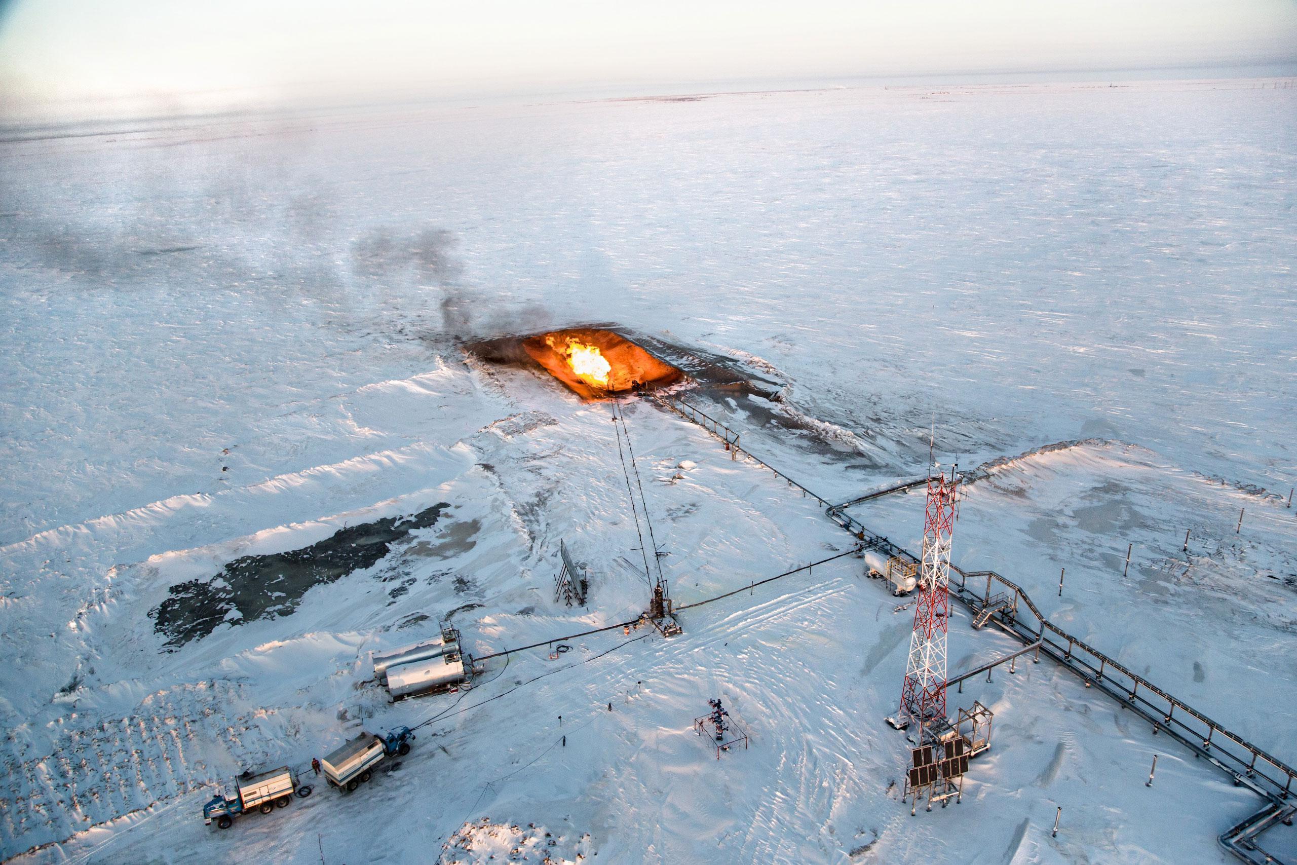 Арктика, крайний Север, нефть, полярный круг, Воркута-9