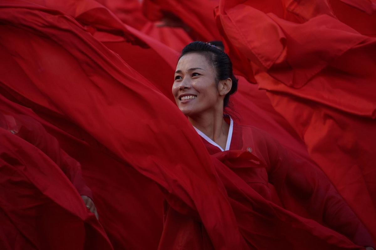 Женщина в красном...