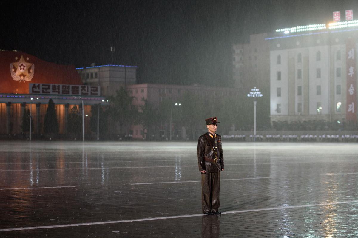 Грибной дождик немного прибьет смог, которого в Северной Корее предостаточно