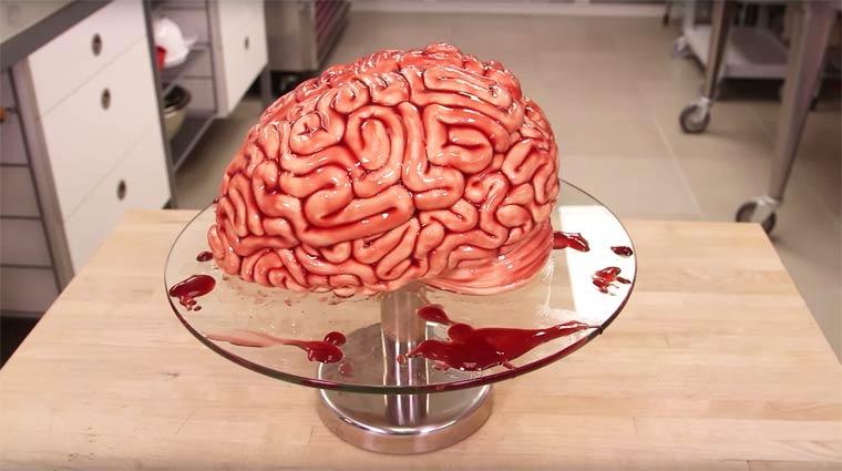 Торт в стиле Ходячие Мертвецы, торт в виде мозга-2