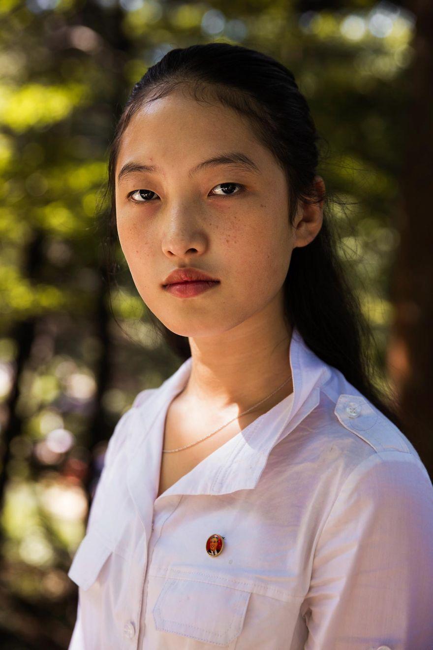 фотографии девушек на улицах Северной Кореи-14