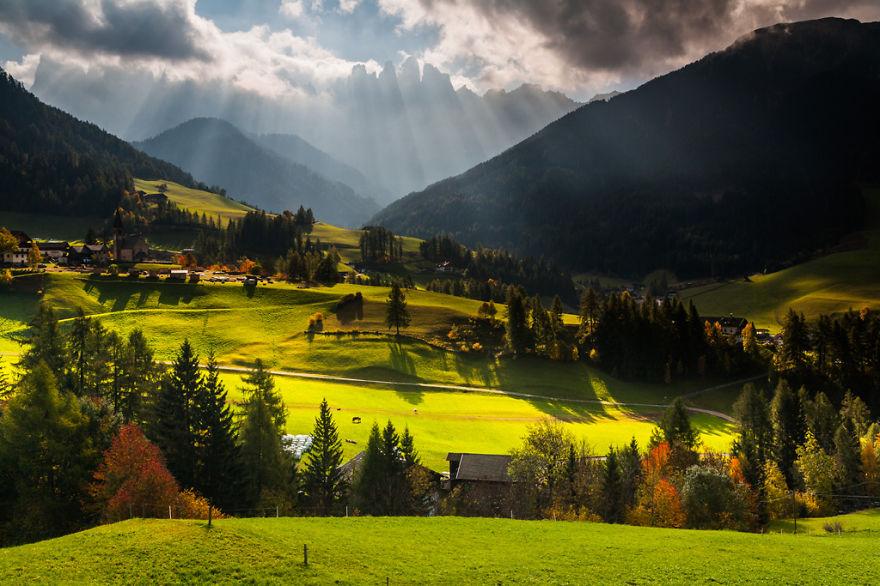 горы Доломиты в Италии, фотография, пейзаж, осень-1