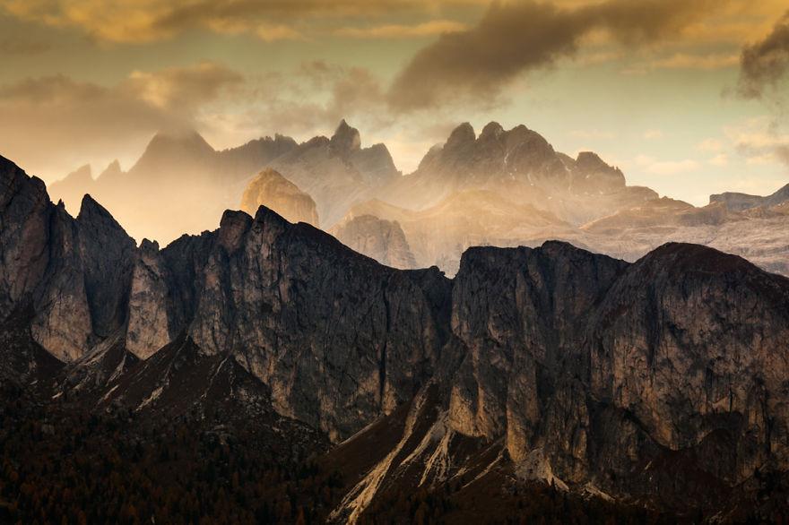 горы Доломиты в Италии, фотография, пейзаж, осень-11