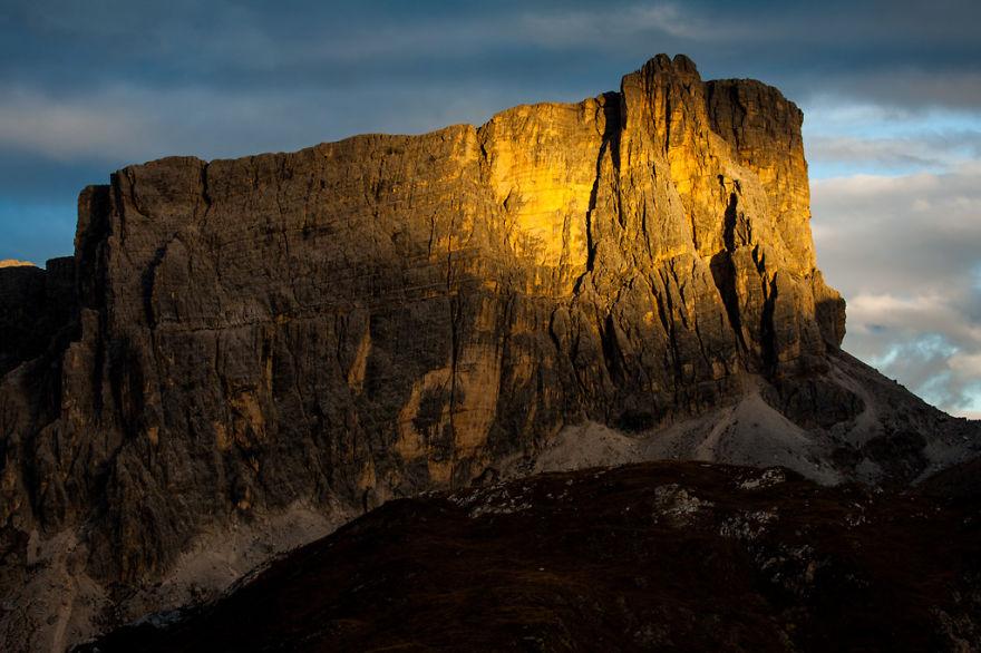 горы Доломиты в Италии, фотография, пейзаж, осень-13