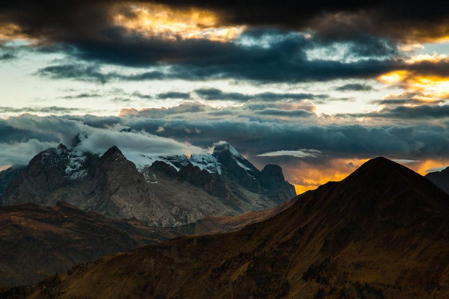 горы Доломиты в Италии, фотография, пейзаж, осень-14