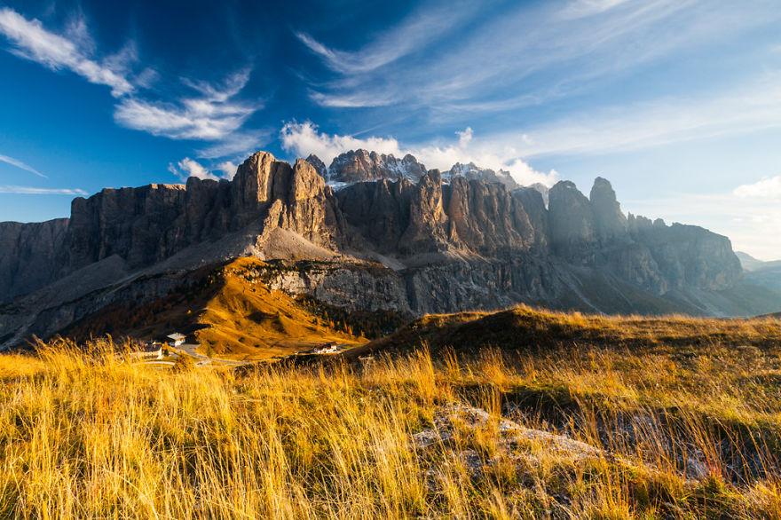 горы Доломиты в Италии, фотография, пейзаж, осень-15