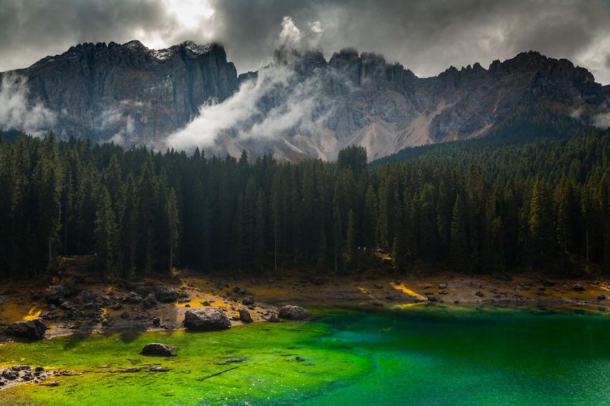 горы Доломиты в Италии, фотография, пейзаж, осень-2
