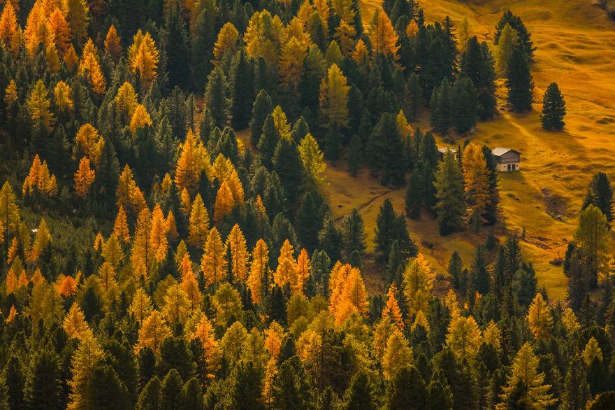 горы Доломиты в Италии, фотография, пейзаж, осень-3