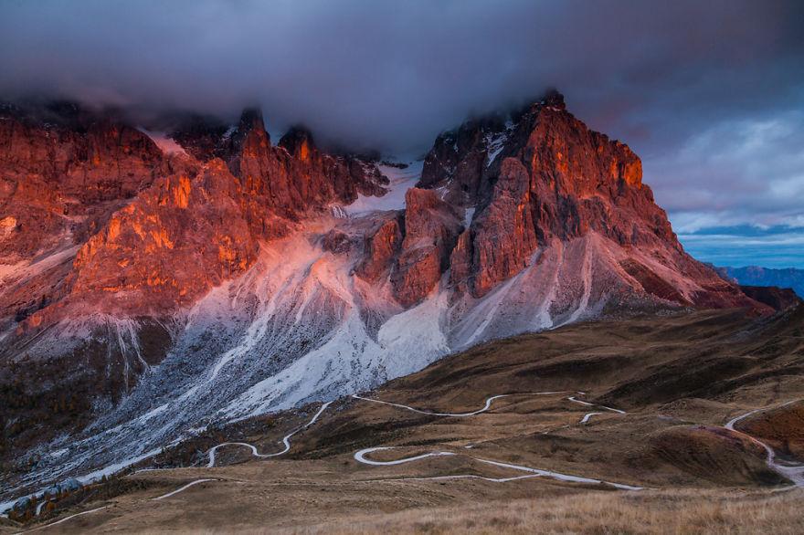 горы Доломиты в Италии, фотография, пейзаж, осень-6