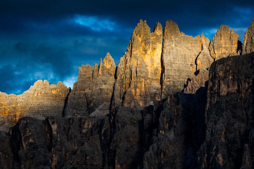 горы Доломиты в Италии, фотография, пейзаж, осень-7