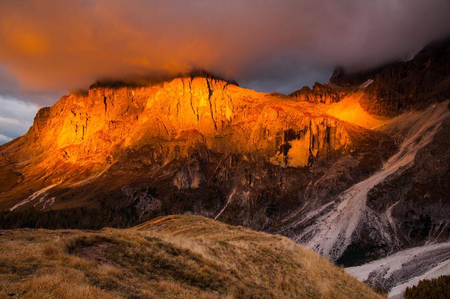 горы Доломиты в Италии, фотография, пейзаж, осень-8