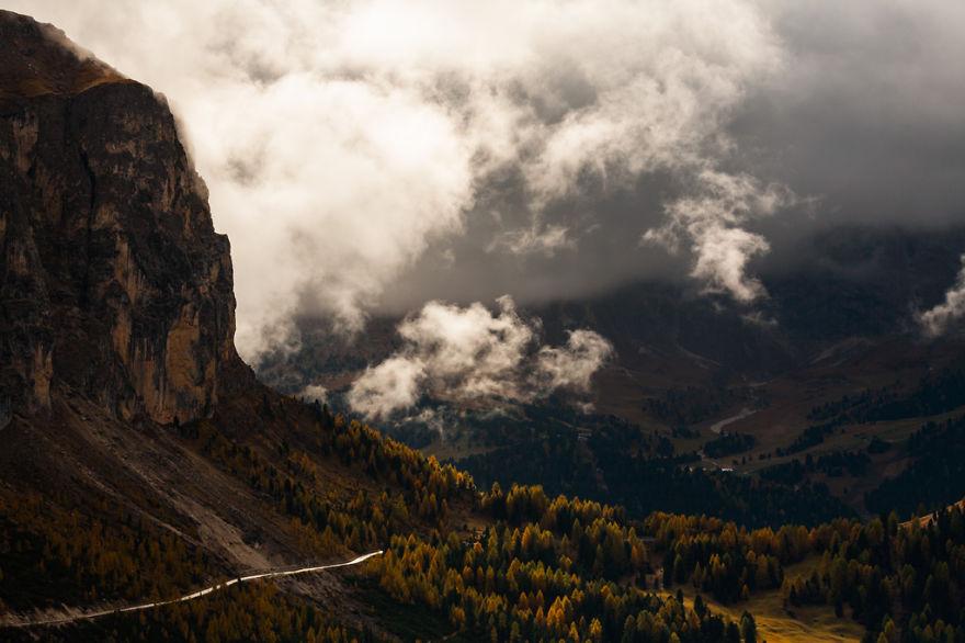 горы Доломиты в Италии, фотография, пейзаж, осень-9