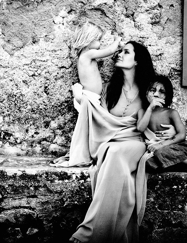 интимные снимки Анджелины Джоли, голая Джоли, личные фото-5