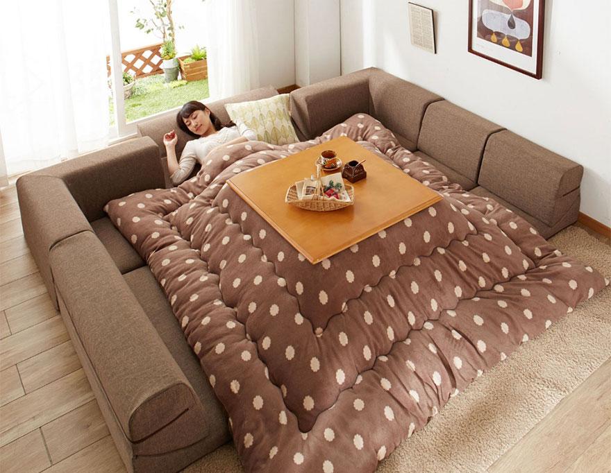 котацу, японское одеяло с источником тепла-3