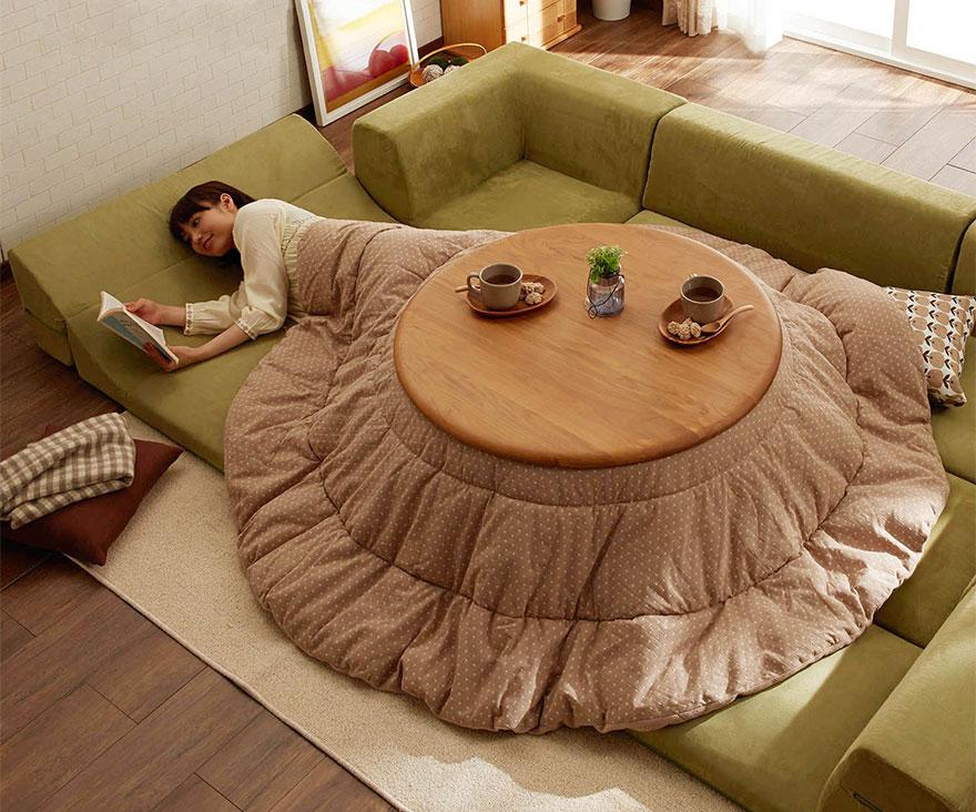 котацу, японское одеяло с источником тепла-4