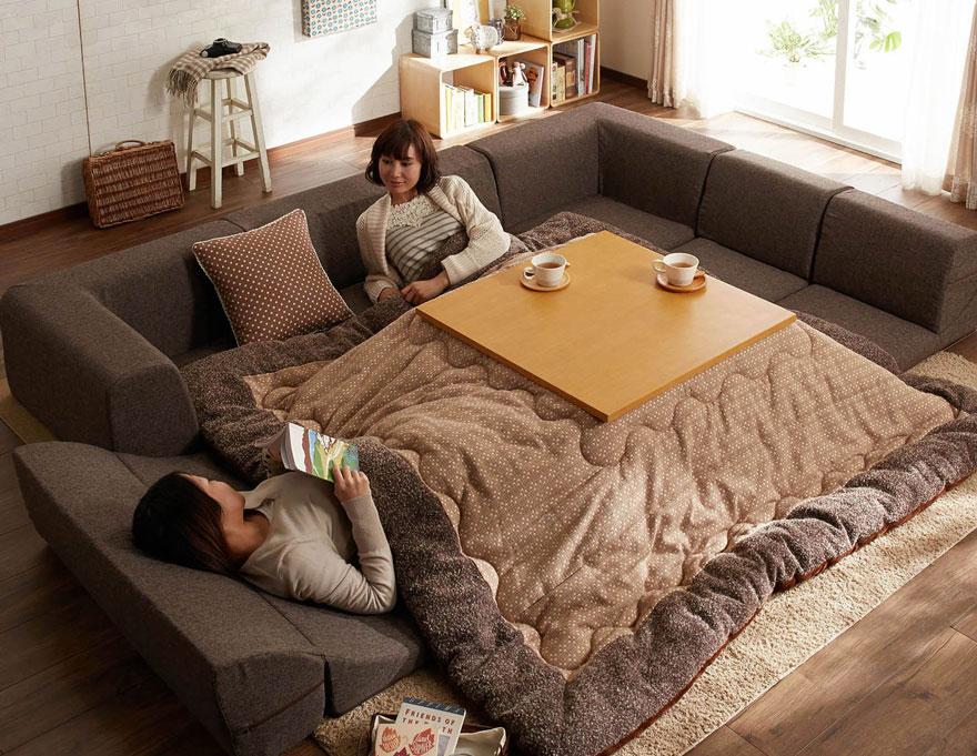 котацу, японское одеяло с источником тепла-5