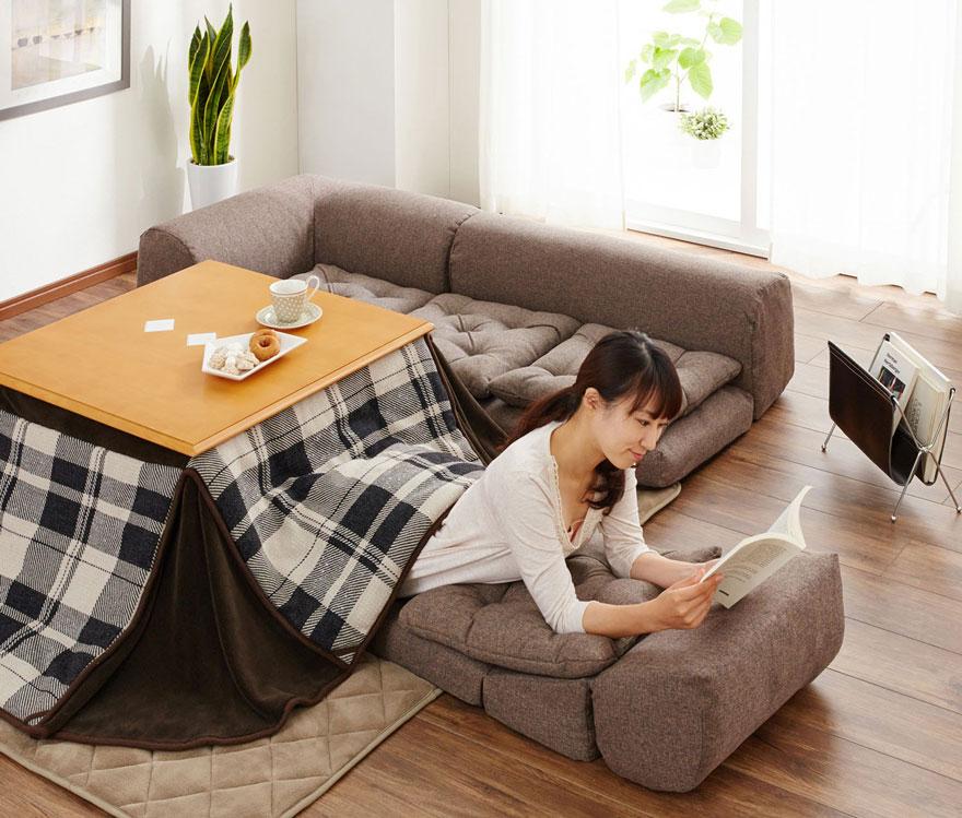котацу, японское одеяло с источником тепла-6