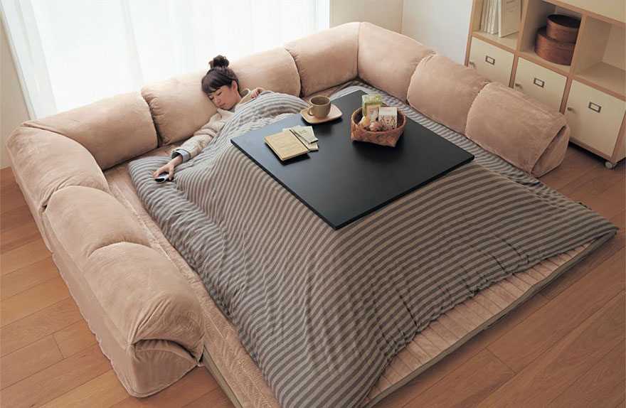 котацу, японское одеяло с источником тепла-7