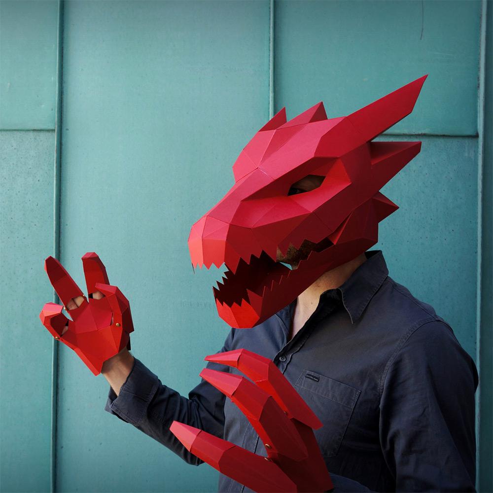 маски для Хэллоуина, маски своими руками-1