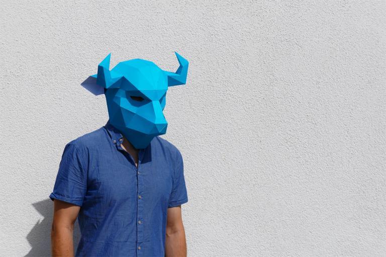 Как сделать из бумаги легкую маску 170