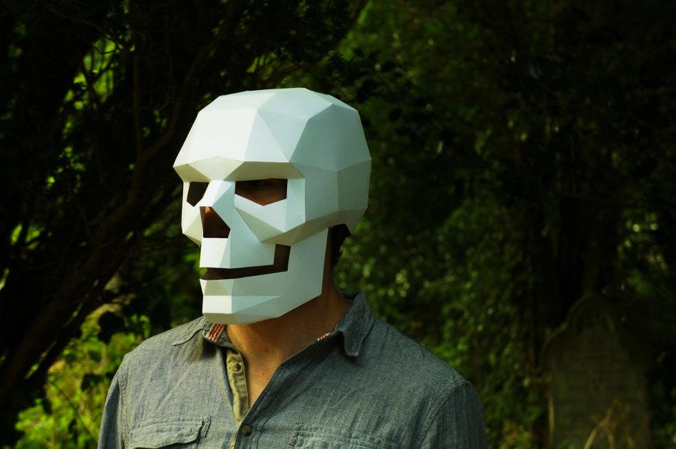 Как сделать маску с черепом своими руками для