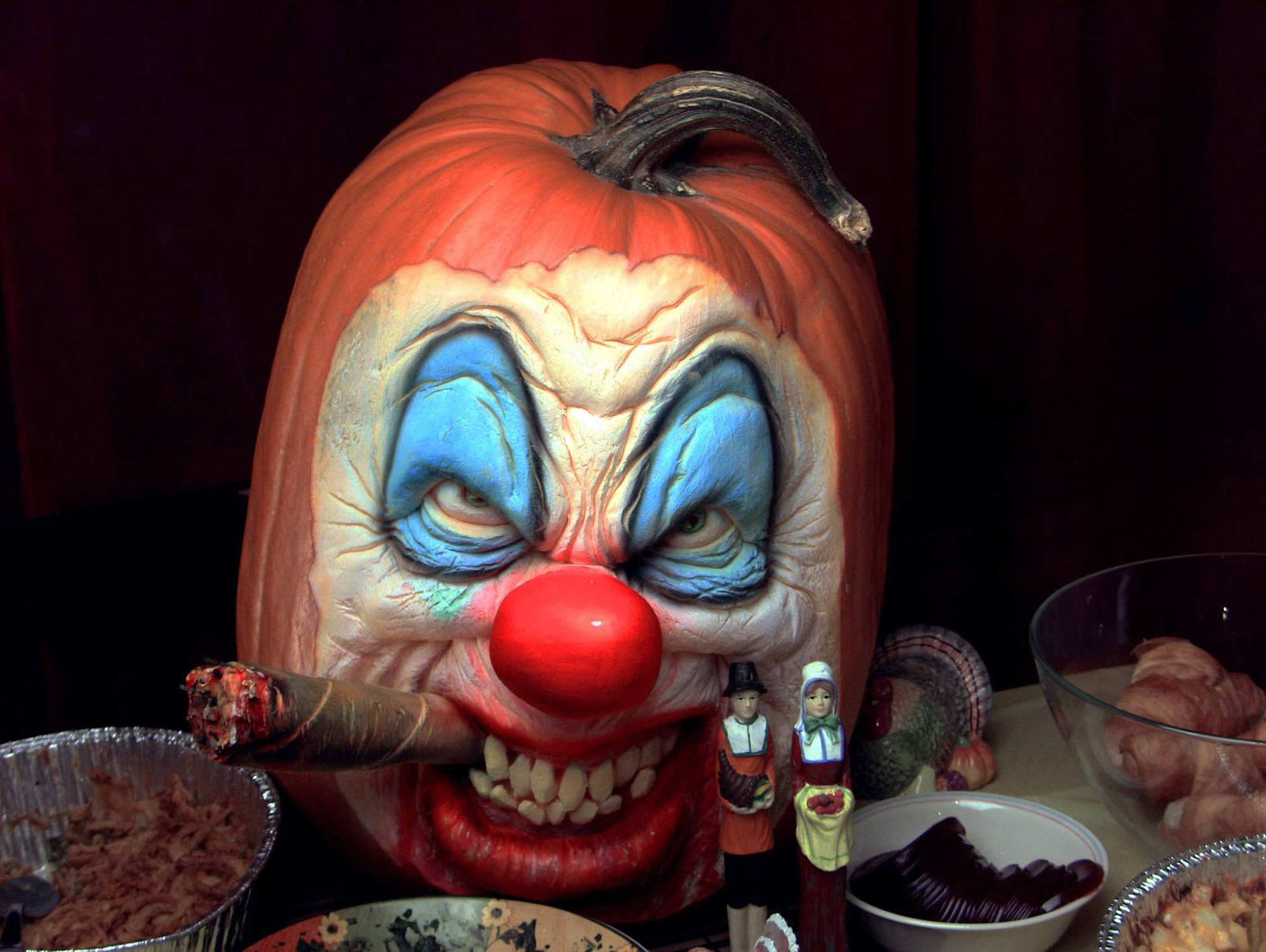резьба на тыкве, Хэллоуин, фото-1