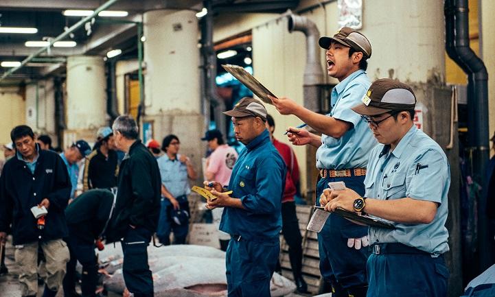 рыбный рынок в Японии-2